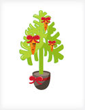 Carrot Tree. Tree in a pot with the toys in the form of carrots Royalty Free Stock Photo