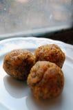 Carrot truffles with poppy seeds Stock Photo