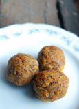Carrot truffles with poppy seeds Stock Image