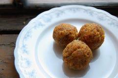 Carrot truffles with poppy seeds Stock Photos