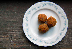 Carrot truffles with poppy seeds Royalty Free Stock Image