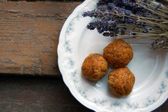 Carrot truffles with poppy seeds Royalty Free Stock Images