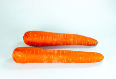Carrot. Two carrots in white background Royalty Free Stock Photos