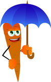 Carrot with umbrella Stock Photo