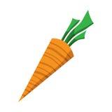 Carrot. Vector illustration of a cartoon carrot icon Royalty Free Stock Photos