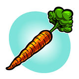 Carrot. Vector illustration of a cartoon carrot icon Stock Photo