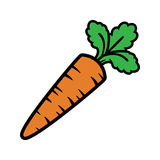 Carrot. Vector illustration of a cartoon carrot icon Royalty Free Stock Image