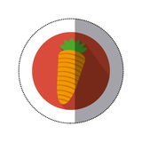 Carrot vegetable icon mage Royalty Free Stock Photos