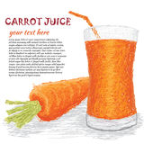 Carrot vegetable juice Stock Image