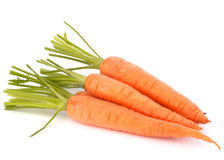 Carrot vegetable with leaves Stock Images