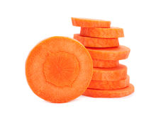 Carrot vegetable round Stock Photos
