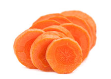 Carrot vegetable round Stock Images