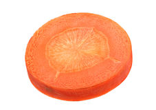 Carrot vegetable round slice Stock Image