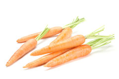 Carrot vegetable on white Royalty Free Stock Photo