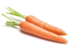 Carrot vegetable on white Stock Photography
