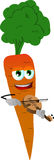 Carrot with violin Stock Photography