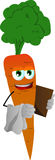 Carrot waiter Royalty Free Stock Photo