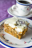 Carrot and walnut cake Stock Photos
