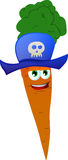 Carrot wearing pirate hat Stock Photo