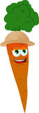 Carrot wearing scout or explorer hat Royalty Free Stock Photos