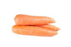 Carrot on the white background Stock Photos