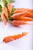 Carrot on a white background Stock Photos