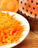 Carrot. Wiped and grated metal Royalty Free Stock Image