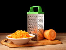Carrot. Wiped and grated metal Stock Photos