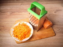 Carrot. Wiped and grated metal Stock Photography