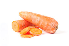 Carrot With Slices Stock Photography