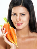 Carrot woman. Stock Photography