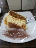 carrotcheesecake teatime cheesecake urodzinowe marchewki fotografia royalty free