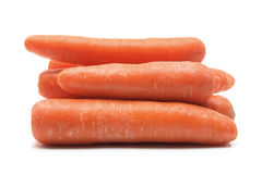Carrots. Raw Carrots on White Background Stock Photos