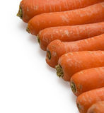 Carrots. Carrot fresh vegetable group on white background Royalty Free Stock Photo