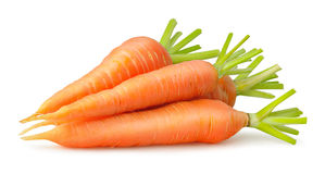 Isolated carrots Stock Image