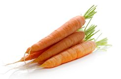 Carrots. Fresh carrots over white background Royalty Free Stock Photo