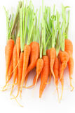 Carrots. Isolated on white background stock photography