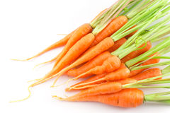 Carrots. Isolated on white background Royalty Free Stock Image