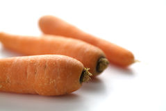 Carrots. The usually tapering, elongate, fleshy orange root of this plant, eaten as a vegetable Royalty Free Stock Photography