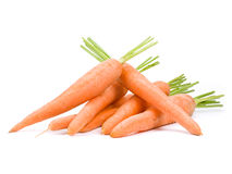 Carrots. Herd isolated on white Stock Images