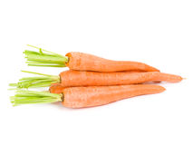 Carrots. Herd isolated on white Stock Photography