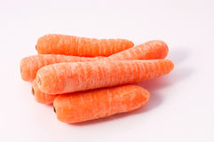 Carrots. On a white background Stock Photos