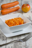 Carrots and apple salad Royalty Free Stock Photography