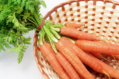 Carrots in Basket Royalty Free Stock Image