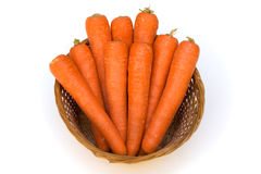 Carrots in a basket Royalty Free Stock Image