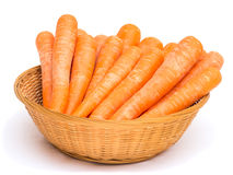 Carrots in Basket Stock Photos