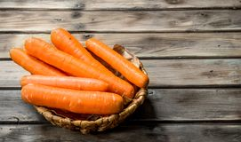 Carrots in the basket stock photo