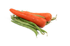 Carrots and beans Royalty Free Stock Photo