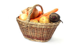 Carrots, beets, potatoes and onions Royalty Free Stock Photo