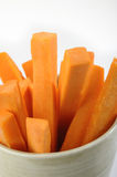 Carrots in bowl Stock Photo